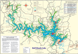 Click here for a printable map of Bull Shoals Lake